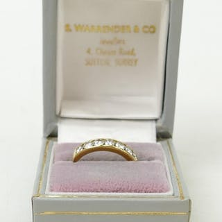 18ct 9 Diamond eternity ring 1.0ct: Nine diamonds with total...