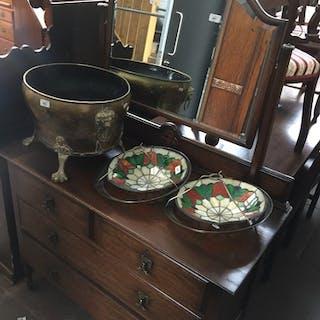 An oak dressing table