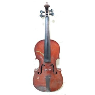 A late 19th violin bearing interior label 'Antonius Stradiva...