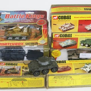 A collection of six boxed Corgi tanks, models - 900, 902, 90...