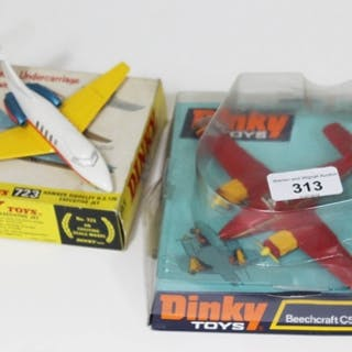 A boxed Dinky Toys die cast Beechcraft CV55 Baron no. 715 an...