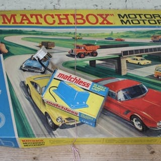 A Matchbox Motorised Motorway M-2 set - complete, together w...