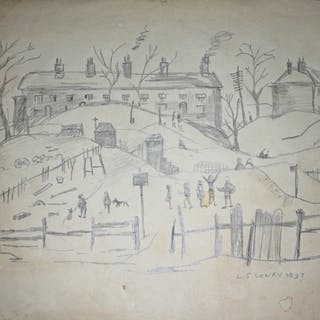 After Laurence Stephen Lowry (1887-1976), pencil drawing, 29...