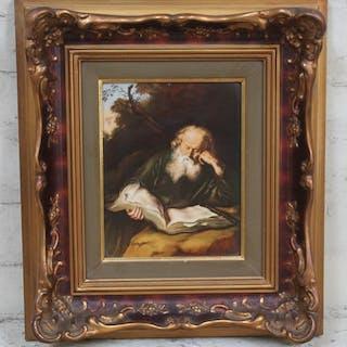 A Rosenthal porcelain plaque 18cm x 23cm framed.