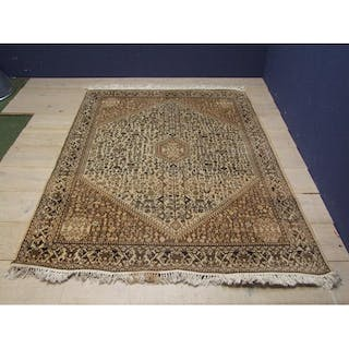 Brown Black On Fawn Ground Middle Eastern Rug 220x160cm