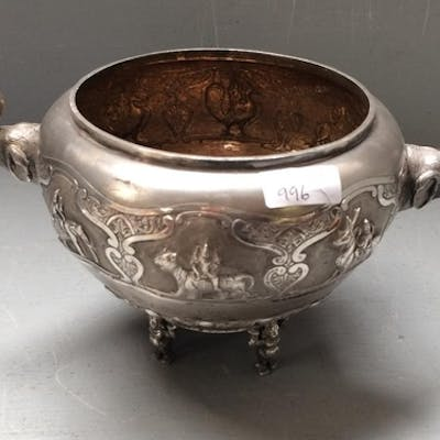 Indian silver coloured presentation bowl