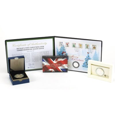 Silver proof coins comprising a Queen's Diamond Jubilee crow...