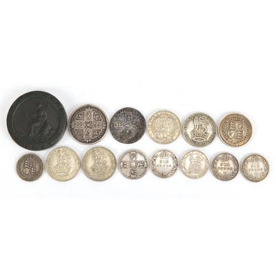 William III and later British coinage mostly silver includin...