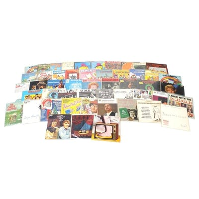 Comedy and kids vinyl LP's including Monte Python and Cook a...