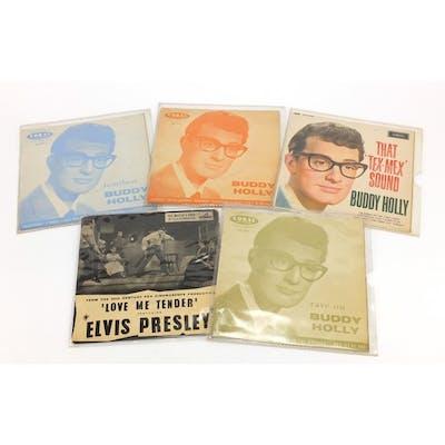 Five Buddy Holly 45PRM's
