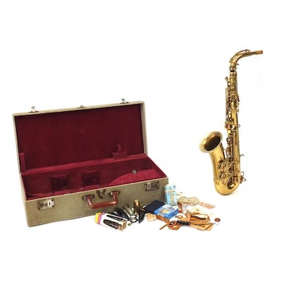 The Buescher Aristocrat by Elkhart lacquered saxophone, with...