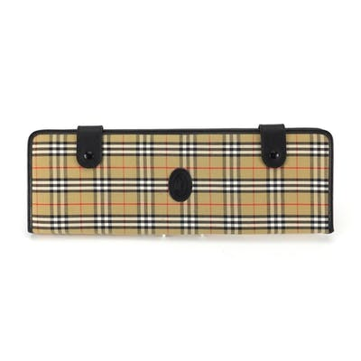 Burberry leather and tartan tie case, 42.5cm high