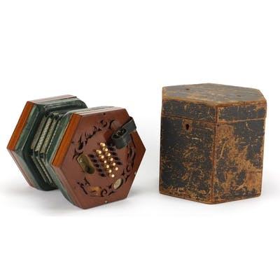 19th century forty three button Concertina by White Aldagate...