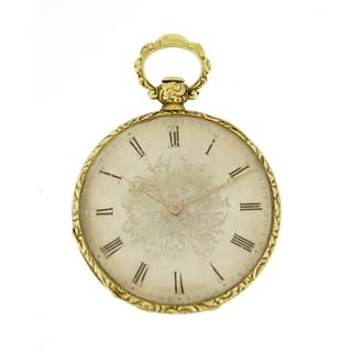 Ladies continental open face pocket watch, with silvered dia...