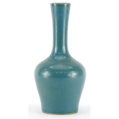 Chinese porcelain tea dust vase, six figure character marks ...