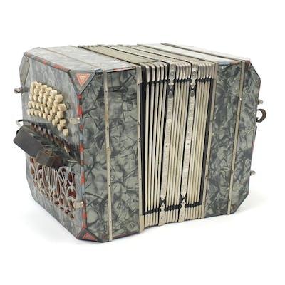19th century German Bandonion concertina by Carl Friedrich U...
