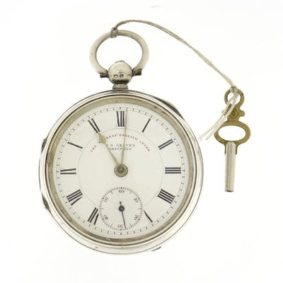 Victorian gentleman's silver express English lever open face...