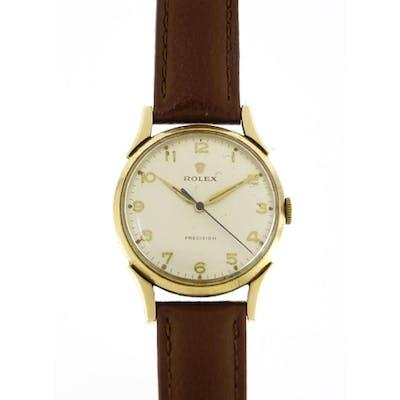 Gentleman's 9ct gold Rolex Precision wristwatch, the movemen...