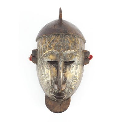 Tribal interest carved wood Bambara warrior mask from Mali, ...
