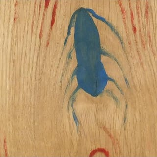 Spider-Ant, oil on oak panel, bearing a monogram LB and insc...