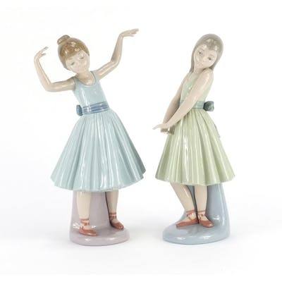 Two Lladro ballerina girls, the largest 27cm high | Barnebys