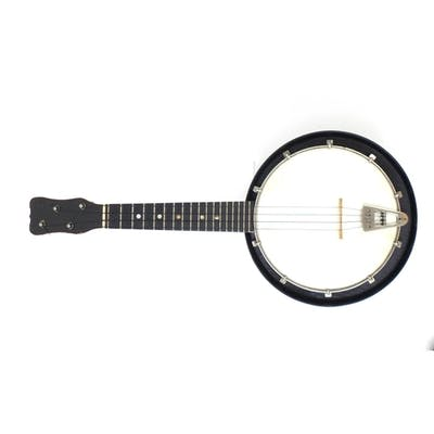 1930's Jetel banjolele with velvet lined fitted carrying cas...
