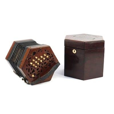 19th century twenty seven button concertina by Lachenal & Co...