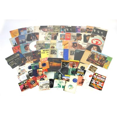 Vinyl LP's and singles including The Beatles Abbey Road with...