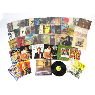 Vinyl LP's and programmes including Syd Barrett The Madcap L...