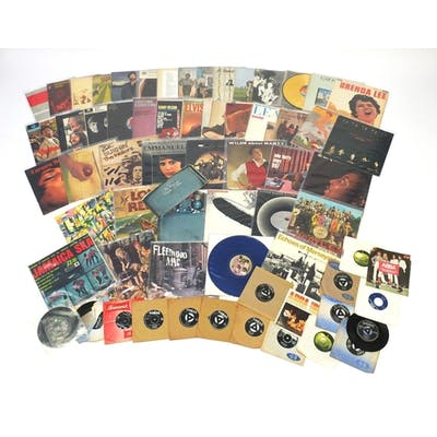 Vinyl LP's and singles including The Wailers Catch a Fire wi...
