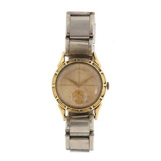 Vintage 14k gold filled Lord Elgin wristwatch, 3cm in diamet...