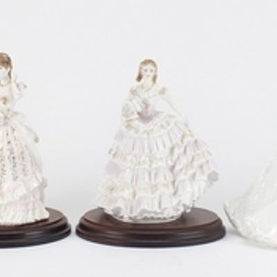 Four limited edition Royal Worcester figurines and one Coalp...
