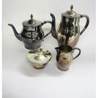 William Rogers Silver Plated Coffee Service, Coffee pot, tea ...
