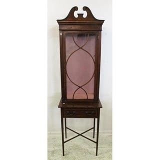 Door Display Cabinet With Boxwood Strung Gl Closed Auction
