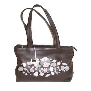 Las As New Radley Dark Brown Leather Handbag With Liqu Current S Barnebys Co Uk