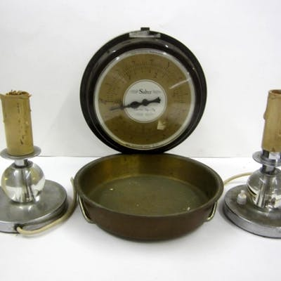 Set Wall Mounted Kitchen Scales Pair Chrome Glass Table L Barnebys