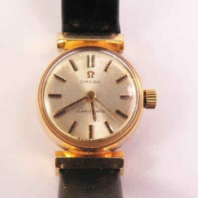 An Omega 18ct Gold Ladies Automatic Wristwatch, movement no....