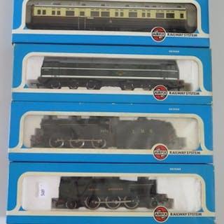 Four OO-Gauge AIRFIX Trains: 0-4-2 1400 Class Tank GWR (5415...
