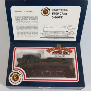 A Bachmann Branch-Line OO-Gauge 5700 Class 0-6-0PT, boxed as...