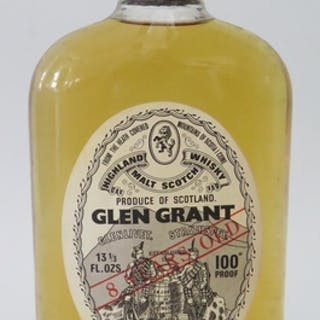 1970's Glen Grant 8 Year Malt Whisky, 100 percent proof, 13 ...