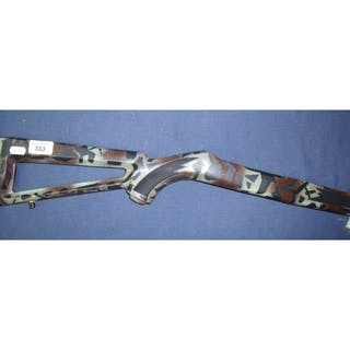 New Ruger 10/22 synthetic skeleton stock with camouflage pri... – Current sales – Barnebys.com