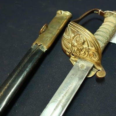 George V British Royal Navy Volunteers Officers Sword with 3...