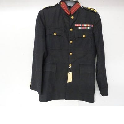 British Army dress uniform jacket with brass buttons by Firm