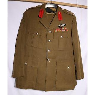 British Army dress uniform khaki green jacket with staybrite