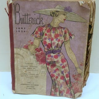 Vintage 1930's Butterick Fashion pattern catalogue for June ...