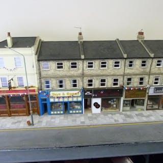Dolls house. Impressive hand built street model titled 'The ...