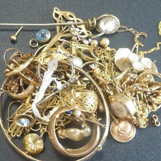 Lady's Le Cheminant 9ct gold watch and various other items, ...