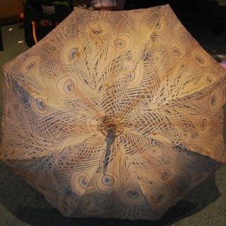 Early 20th Century parasol or umbrella with William Morris '...