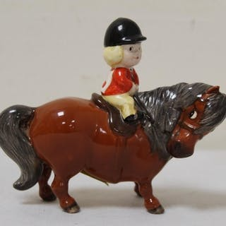 "Beswick Thelwell figure, ""An Angel On Horseback"", no. 2704B,..."