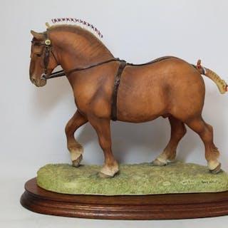 """Border Fine Arts figure """"Suffolk Punch Stallion Walking"""" No...."""